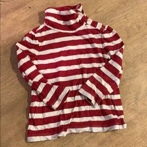 Baby Gap striped red and white turtleneck